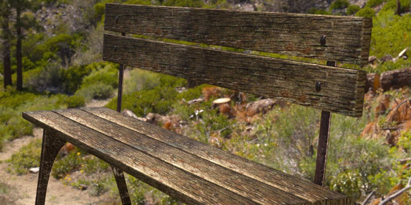 Park Bench for DS by Pretty3D