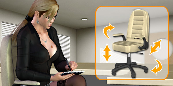 Office Set - Chair by Pretty3D