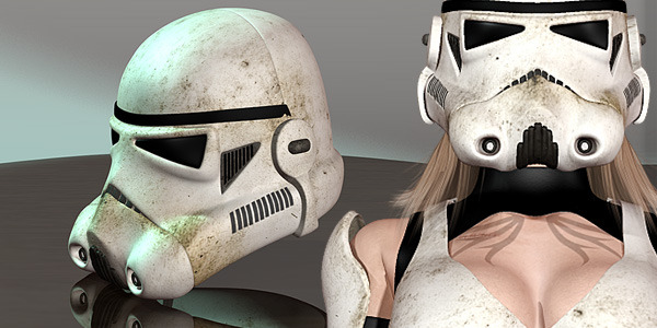 Helmet for Star Girls - Trooper (Genesis 2 by Pretty3D