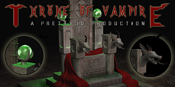 Throne of Vampire by Pretty3D