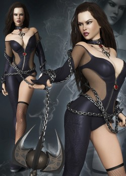 Chain of Darkness Outfit for Genesis 8 Female(s)