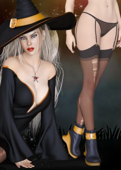 Charming Witch Outfit for Genesis 8 Female(s)
