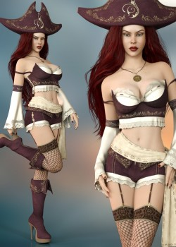 Misfortune Outfit Set for Genesis 8 Female(s)
