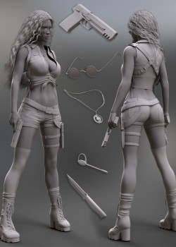 Treasure Hunter Clothing Set for Genesis 8 Female(s)