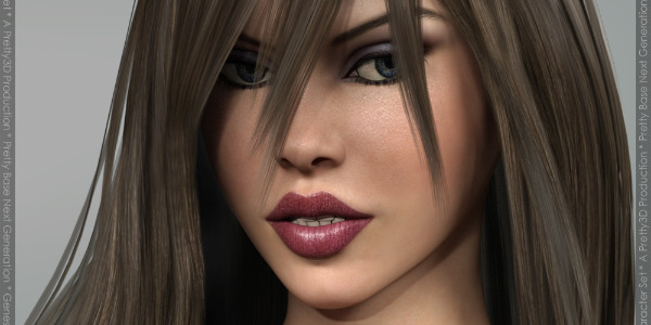Pretty Base NG Long Hair for Genesis 3 Female(s) by Pretty3D