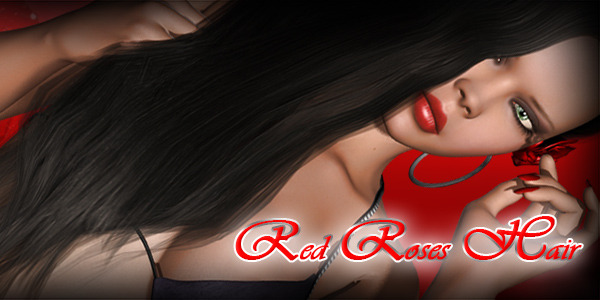 Red Roses Hair by Pretty3D