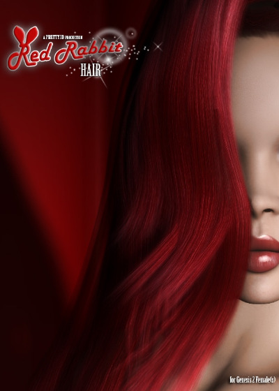 Red Rabbit Hair for Genesis 2 Female(s)