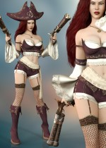 Fatal Attraction Outfit Set for Genesis 8 Female(s)